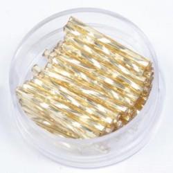 Palčke 15mm zlate zvite, 17g.
