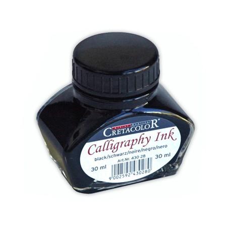 Cretacolor tuš za kaligrafijo 30ml Črna