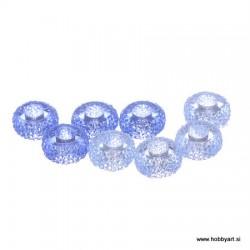 Epoksi akrilne perle 12mm Ø luknje 4,5mm, Lavanda, 8 kos