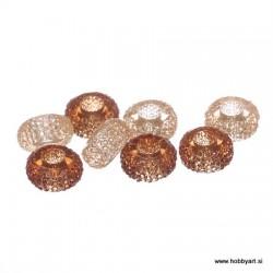 Epoksi akrilne perle 12mm Ø luknje 4,5mm,Topaz/Breskev, 8 kos