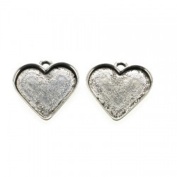 Medaljon srce 30 x 23mm, 2 kosa