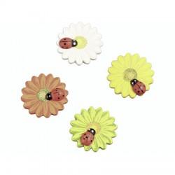 Okraski Pikapolonica na roži 3cm, 8 kosov