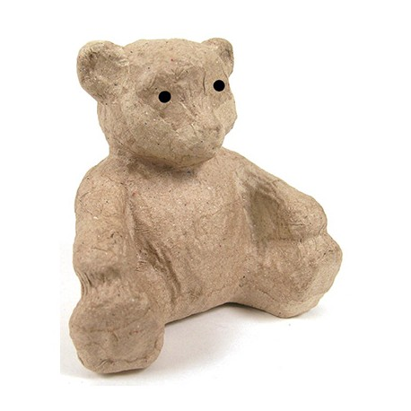 Papmache figura ES Medvedek 8x5x7cm
