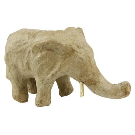 Papmache figura ES Slon 12,3x5,7x6,8cm