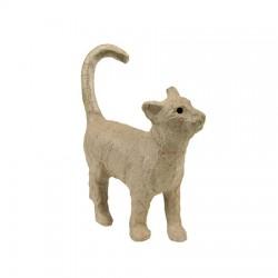 Papmache figura ES Mačka 3,5x11x12cm