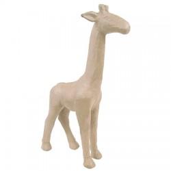 Papmache figura L Žirafa 10x29x56cm