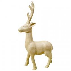 Papmache figura L Jelen 30x10x54cm