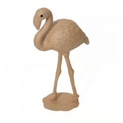 Papmache figura S Flamingo 15x7x27cm