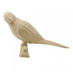 Papmache figura S Papagaj 10x24x11cm