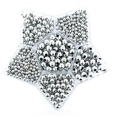 Komplet voščenih perl Zvezda Srebrne 4, 6, 10mm
