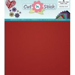 Samolepilna folija Mirror Rdeča 20 x 23cm, 2 kosa