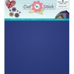 Samolepilna folija Mirror Modra 20 x 23cm, 2 kosa