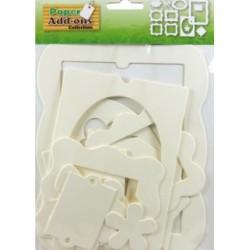 Okvirji - okraski iz kartona 12 kosov