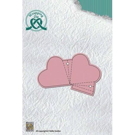 Nellies nož za škatlice Srce 8,2 x 5,4cm
