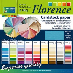 Florence papir lanena struktura blok 30,5 x 30,5cm 60listov