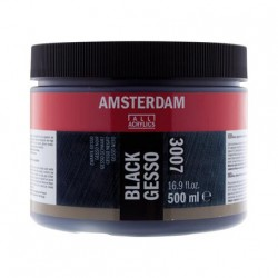 Amsterdam Gesso Črna 500ml