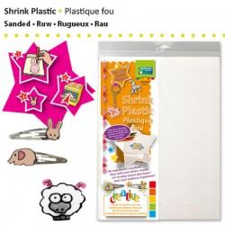 Shrink plastika Peščen - Zmrznjen videz A4, 4 kosi