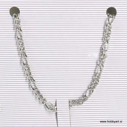 Metalna verižica 3,5 + 7mm x 1m, Platinaste b.