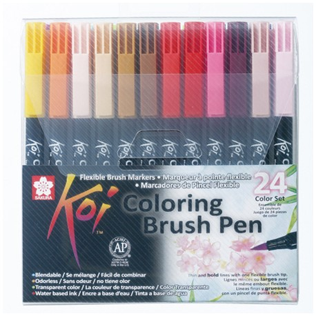 Sakura Koi brush marker set 24