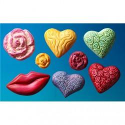 Kalup za mila Srca, Rože