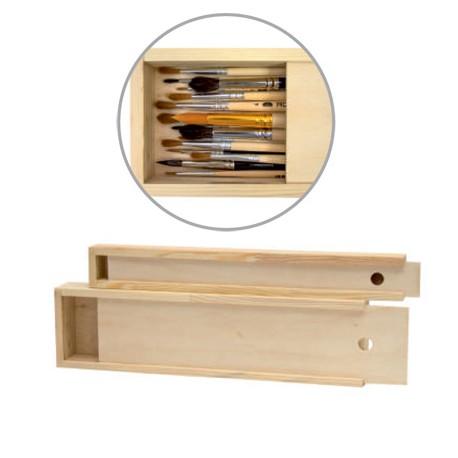 Lesena škatla za čopiče 38 x 9,8 x 4cm