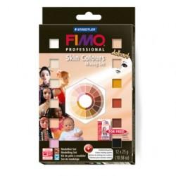 Fimo professional kožne barve 12 x 25g.