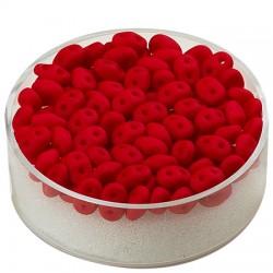 Super Duo perle 2,5 x 5mm, Rdeča 8g.