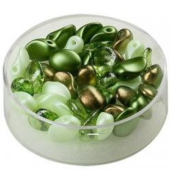 Perle solze 6 x 8mm, cca 40 kosov, Zeleni