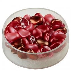 Perle solze 6 x 8mm, cca 40 kosov, Rdeča