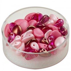 Perle solze 6 x 8mm, cca 40 kosov, Roza