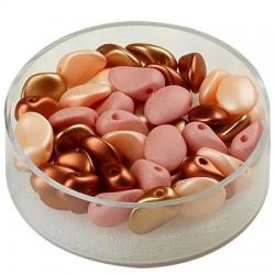 Perle solze 6 x 8mm, cca 40 kosov, Oranžno rjava