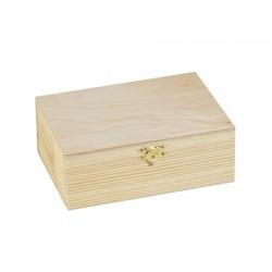 Lesena škatla smreka 17 x 6,5 x 12cm