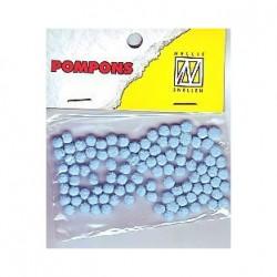 Pompom 3mm, Baby modra, 100 kosov