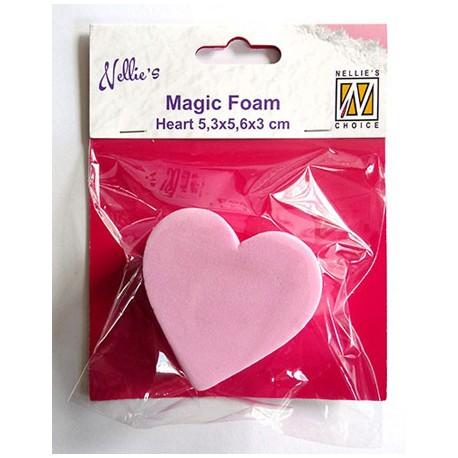 Magic Foam za izdelavo štampiljke Srce 5,3x5,6x3cm