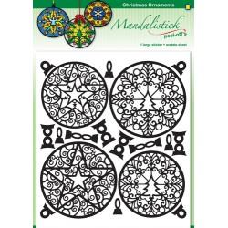 Konturne nalepka Mandale Ornamenti Bunkice Črne