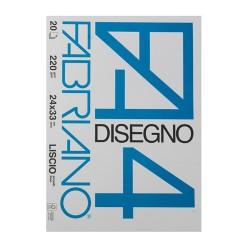 Fabriano 4 gladek šeleshamer Designo 220g. 20 listov