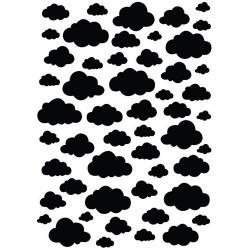 Šablona Mixed media A5, Oblaki