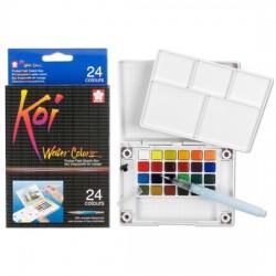 sakura Koi akvarelne barve set 24 + vodni čopič