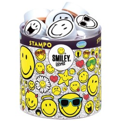 Štampiljke v lončku Smiley 38 kosov cca 12 do 22mm