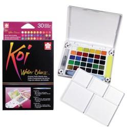 Sakura Koi akvarelne barve set 30 + vodni čopič