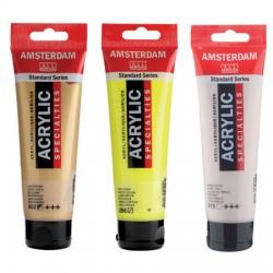Amsterdam akril 120ml SPECIALNE, kovinske, perla, flourescentne