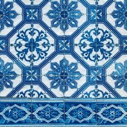 Papirni prtički Servieti Modri vzorci 4 kosi 33x33cm