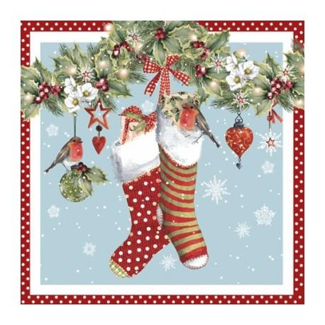 Papirni prtički Servieti Božične nogavice 4 kosi 33x33cm