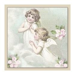 Papirni prtički Servieti Angeli in rože 4 kosi 33x33cm