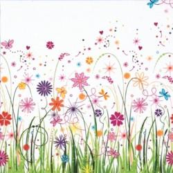 Papirni prtički Servieti Cvetlični travnik 4 kosi 33x33cm