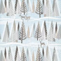 Papirni prtički Servieti Zasneženi zimski gozd 4 kosi 33x33cm
