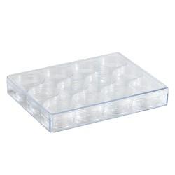 Prozorna akrilna škatla 12 kosov 160x120x25mm