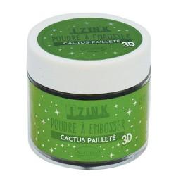Aladin Embossing prah 25ml Kaktus zelena bleščice