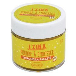 Aladin Embossing prah 25ml Citronella rumena bleščice