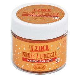 Aladin Embossing prah 25ml Mango Oranžna bleščice